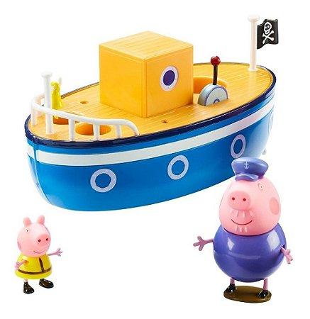 Barco Barquinho Vovô Pig - Flutua Na Água - Peppa Pig - Dtc