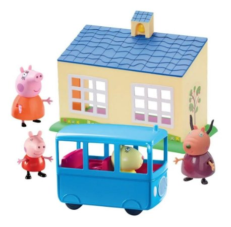 Escolinha E Ônibus Escolar C/ Acessórios Peppa Pig - Dtc