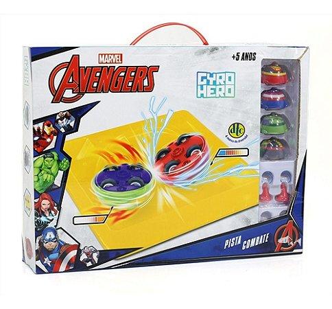 Marvel Gyro Hero Pista Combate - Avengers Vingadores - Dtc