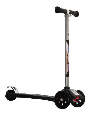 Patinete Scooter Preto - Regulável - Suporta 80kg - Zoop