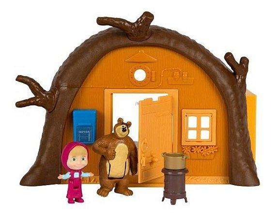 Playset Casa Do Urso E Mini Figuras - Masha E O Urso - Sunny
