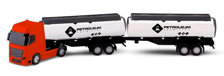 Caminhão Bitrem Tanque Pipa Roma Petroleum - 1/43 - Roma