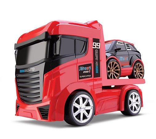 Caminhão Guincho + Carrinho - Next Race - Roma Brinquedos