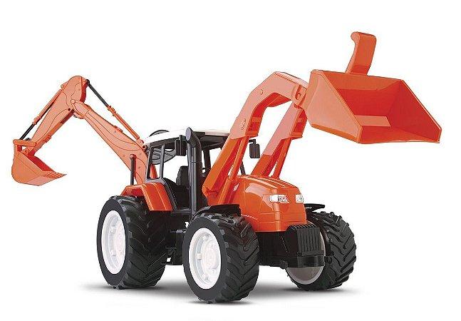 Trator Roma Tratores Retroescavadeira 56cm - Roma Brinquedos