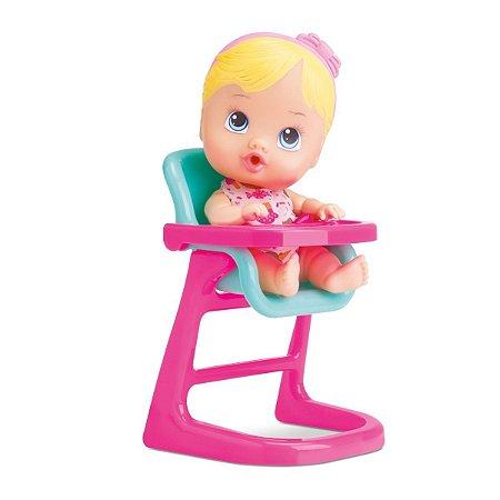 Boneca Bebê Baby Little Dolls Alive Cadeirão - Divertoys