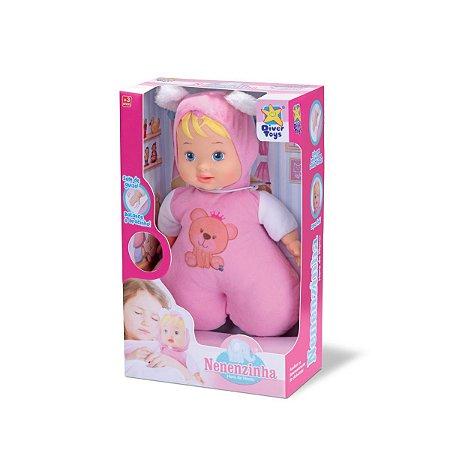 Boneca Nenenzinha Hora De Nanar Atóxica P/ Bebês - Divertoys