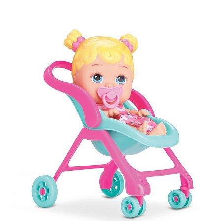 Boneca Bebê Little Dolls Alive Passeio - 19cm - Divertoys