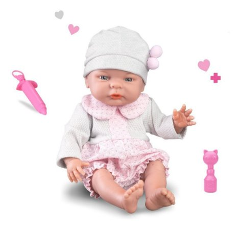 Boneca Roma Babies Newborn Hora Da Vacina + Acessórios- Roma