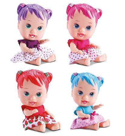 Kit C/ 4 Bebê Little Dolls Alive Cores E Sabores - Divertoys
