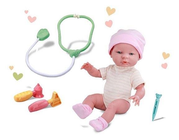 Boneca Roma Babies Visita Ao Pediatra C/ Acessórios - Roma
