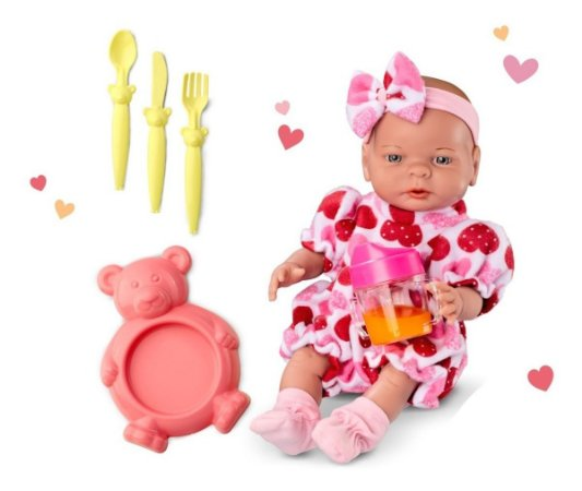 Boneca Roma Babies Primeiras Comidinhas C/ Acessórios - Roma