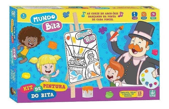Kit De Pintura Mundo Bita - C/ 13 Peças em Madeira - Nig