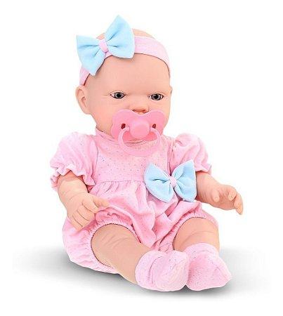 Boneca Bebezinho Real Primeiros Cuidados Gêmeos Menina- Roma
