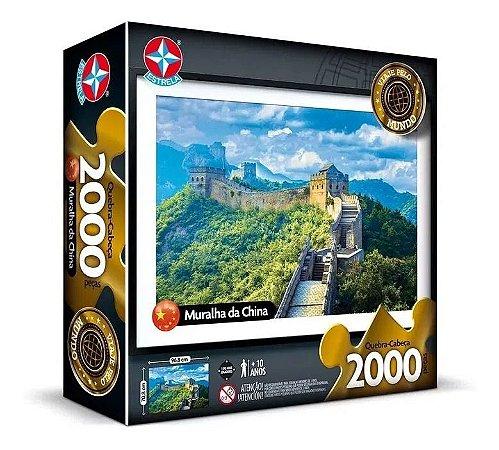 Quebra Cabeça Da Muralha Da China - C/ 2000 Peças - Estrela
