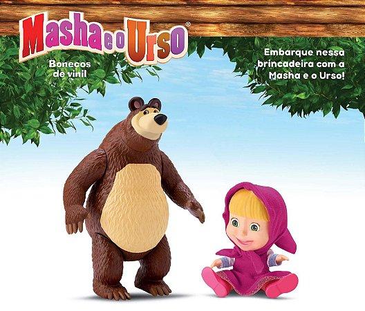 Bonecos Masha E O Urso - Original Em Vinil - Divertoys