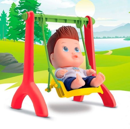 Boneco Little Dolls Playgrond - Balancinho Menino- Divertoys