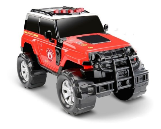 Carrinho Jipe Bombeiro - Jeep Render Force Resgate - Roma