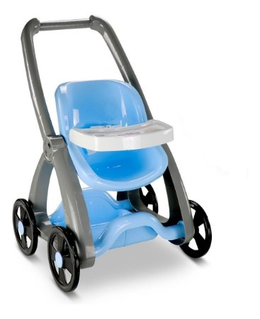 Carrinho De Boneca Reborn - 73cm - Roma Babies - Azul - Roma