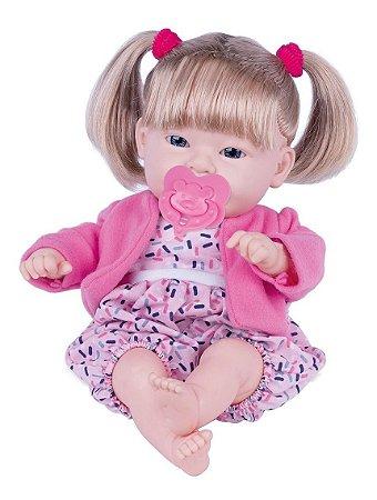 Boneca Dolls Collection Bebê Feliz c/ acessórios - Supertoys