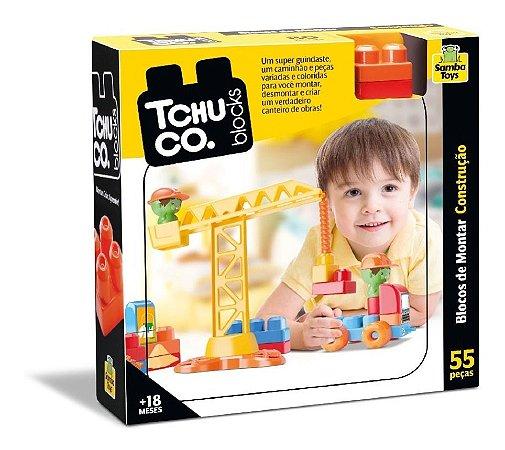 Tchuco Blocos De Montar Construção - C/ 55 Pçs - Samba Toys