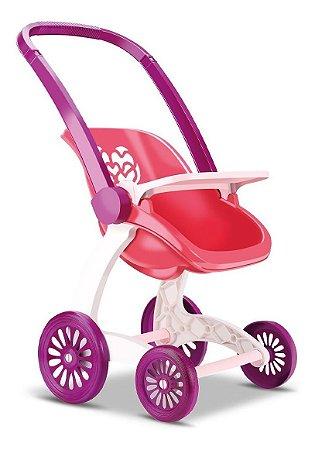 Carrinho E Bebê Conforto Para Bonecas -c/ 61cm- Samba Toys
