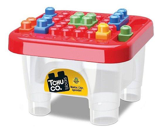 Tchuco Blocos De Montar Mesinha - C/ 45 Peças - Samba Toys