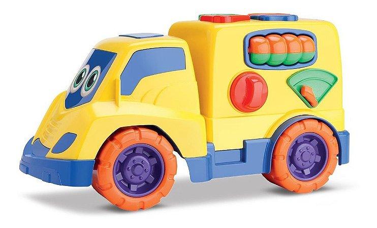 Tchuco Baby Encaixes - Caminhão Didático P/ Bebês - Samba