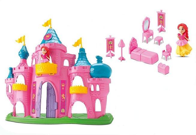 Castelo Princesa Judy Rosa - C/ Acessórios - Samba Toys