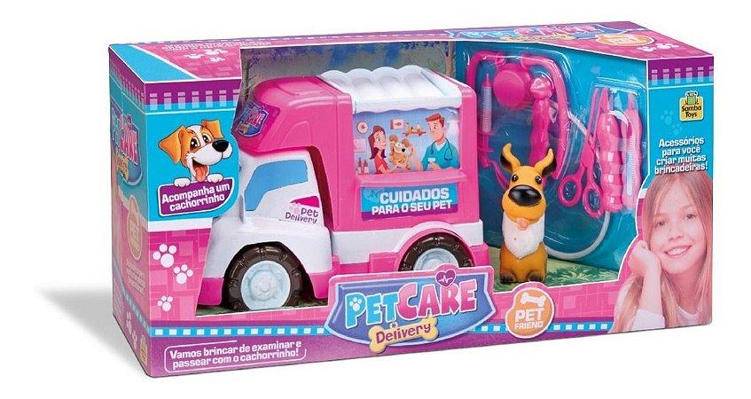 Van Pet Shop - Pet Care C/ Cachorro + Acessórios- Samba Toys