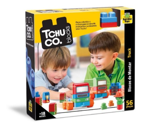 Tchuco Blocos De Montar Truck - C/ 56 Peças - Samba Toys
