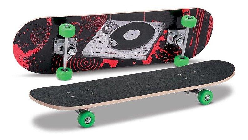 Skate C/ Lixa Montado - 70cm - Rodas Gel - Samba Toys