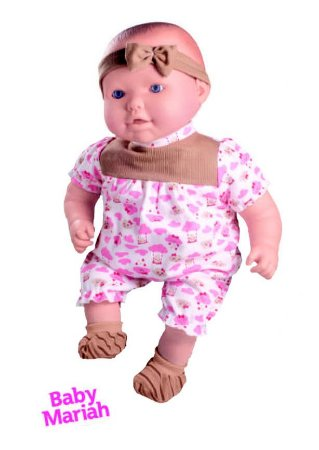 Boneca Cheirinho De Neném- Baby Mariah C/ Sons de Bebê- Milk