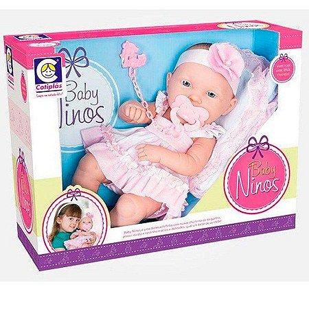 Boneca Baby Ninos Reborn - Cotiplás