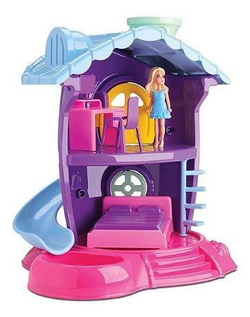 Casinha De Boneca Judy - Quarto -c/ Acessórios- Samba Toys