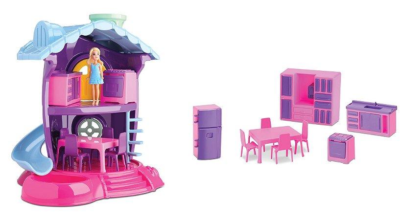 Casinha De Boneca Judy - Cozinha - C/ Acessórios - Samba