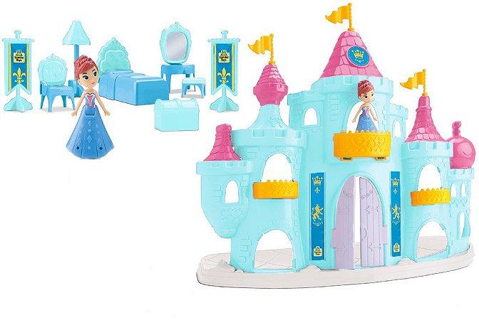 Castelo Princesa Snow Do Gelo - C/ Acessórios - Samba Toys