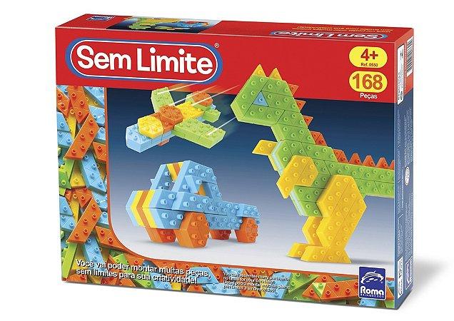 Sem Limite Infantil - Blocos de Montar - 168 peças - Roma Brinquedos