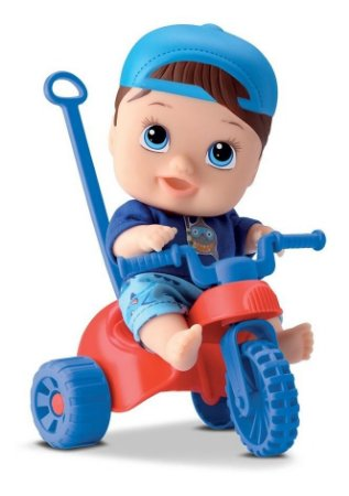 Boneco Little Dolls Playgrond Triciclo - Menino - Divertoys