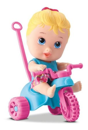 Boneco Little Dolls Playgrond - Triciclo Menina - Divertoys