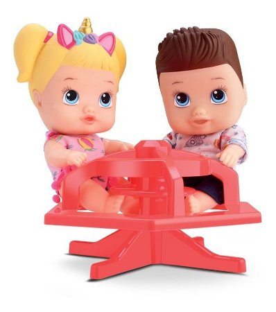 Boneco Little Dolls Playgrond Gira Gira -gêmeos- Divertoys