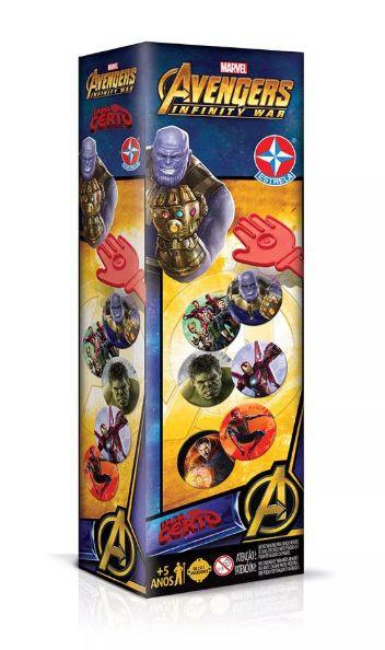 Jogo Tapa Certo - Marvel Avengers - Estrela