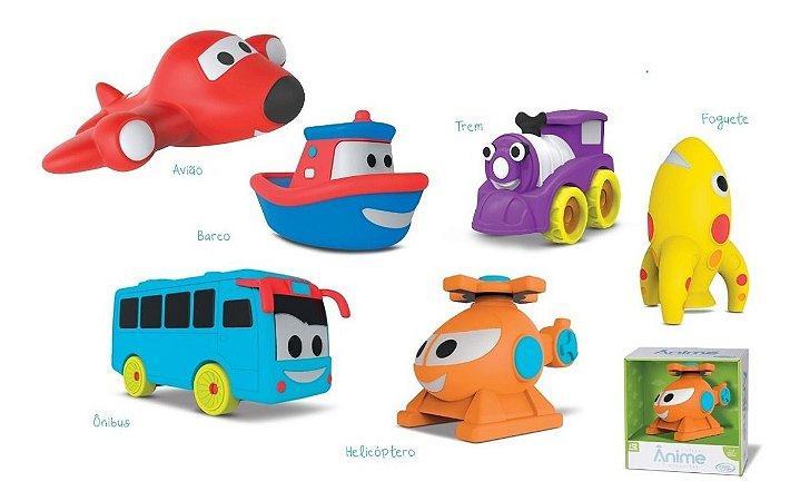 Coleção Ânime Transportes P/ Bebês - Vinil Macio - Omg Kids