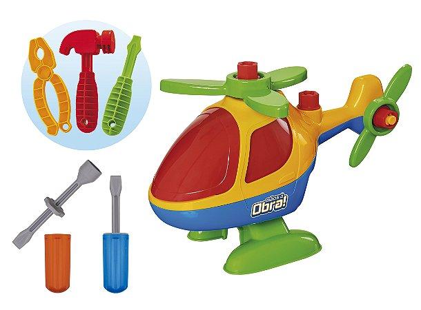 Helicóptero Monta e Desmonta - Brinquedo Educativo - Usual