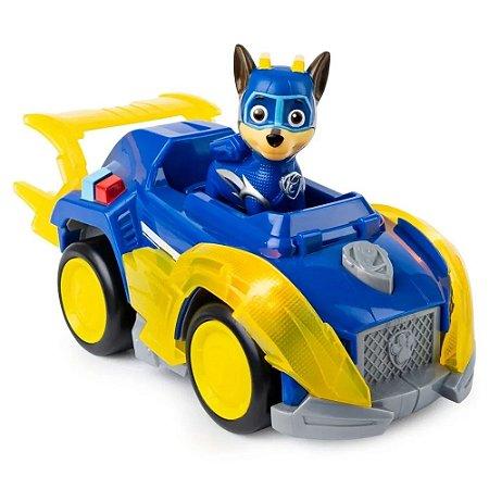 Veículo + Figura Chase Mighty Pups - Patrulha Canina - Sunny