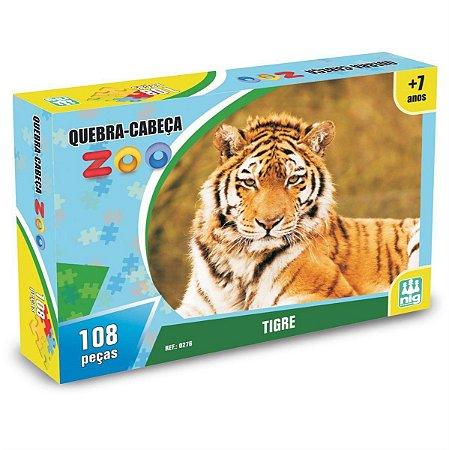 Quebra Cabeça Zoo - Tigre - C/ 108 Peças - Nig