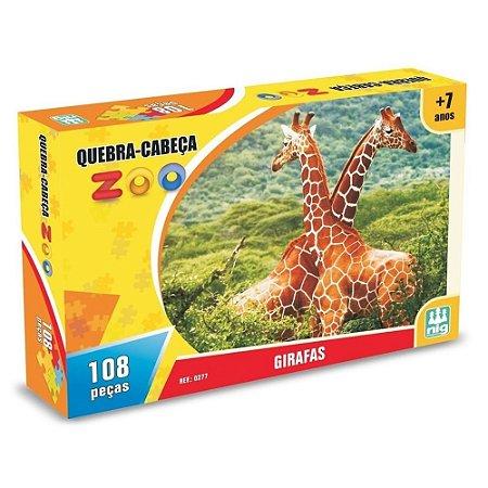Quebra Cabeça Zoo - Girafas - C/ 108 Peças - Nig