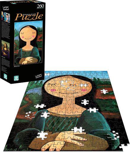 Quebra Cabeça Puzzle - Releitura Monalisa - 260 Peças - Nig