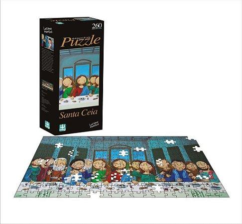 Quebra Cabeça Puzzle - Releitura Santa Ceia - 260 Pçs - Nig