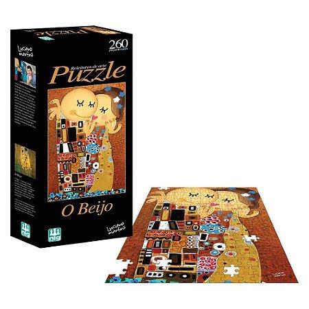 Quebra Cabeça Puzzle - Releitura O Beijo - 260 Peças - Nig