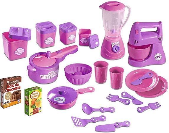 Kit Cozinha Infantil Show de Cozinha - 22 Peças - Zuca Toys